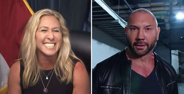 Guardians of the Galaxy star Dave Bautista disagrees with the policies of Republican Congresswoman Marjorie Taylor Greene and also thinks she's inbred.