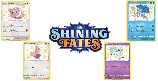 Shiny Pokémon Cards from Shining Fates. Credit: Pokémon TCG