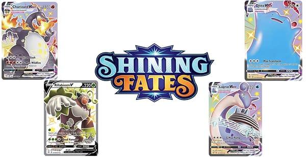 Shining Fates V and VMAX cards. Credit: Pokémon TCG