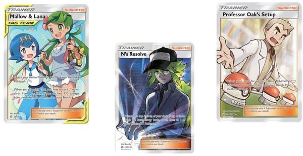 Full Art Trainer Cards of Cosmic Eclipse. Credit: Pokémon TCG