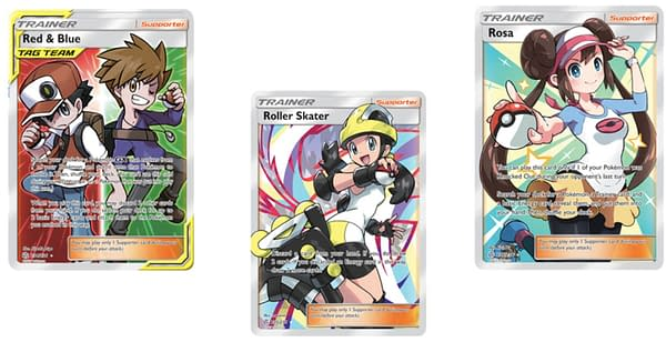 Full Art Trainer Cards of Cosmic Eclipse. Credit: Pokémon TCG