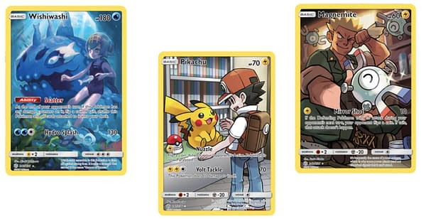 The Secret Rare Character Cards of Cosmic Eclipse. Credit: Pokémon TCG
