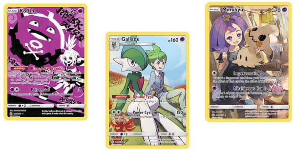 Secret Rare Character Cards of Cosmic Eclipse. Credit: Pokémon TCG
