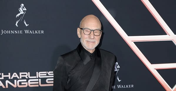 """LOS ANGELES - NOV 11: Patrick Stewart at the """"Charlie's Angels"""" Premiere at the Village Theater on November 11, 2019 in Westwood, CA (Image: Kathy Hutchins / Shutterstock.com)"""