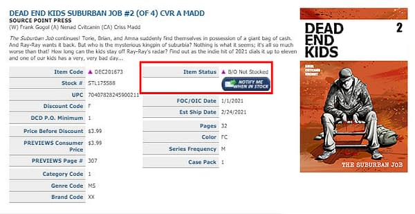 Dead End Kids: Suburban Job #2 Sells Out, No Word On Second Printing