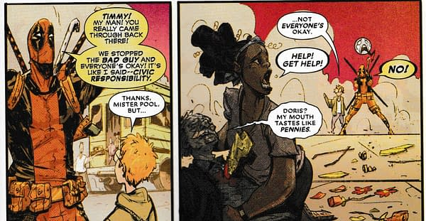 Something Very Bad Happens to Willie Lumpkin Today in Black Panther/Deadpool #1 (Spoilers)