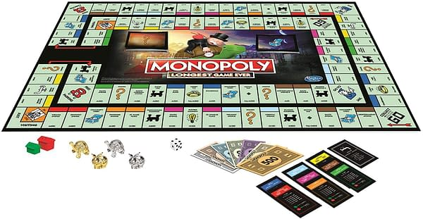 A look at the game board for Monopoly: Longest Game Ever, courtesy of Hasbro.