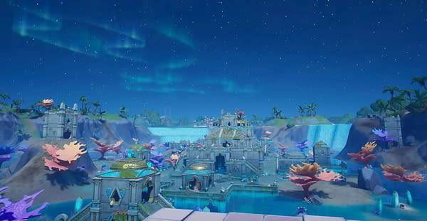 A look at Atlantis, also known as Coral Castle, inside the world of Fortnite, courtesy of Epic Games.