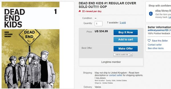 Dead End Kids #1 Sells Out Ahead of Release, $35 on eBay Already - How Soon Till a Second Printing?
