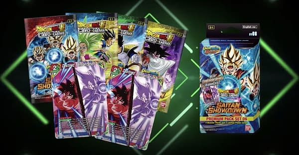 Dragon Ball Super Saiyan Showdown premium packs. Credit: Bandai