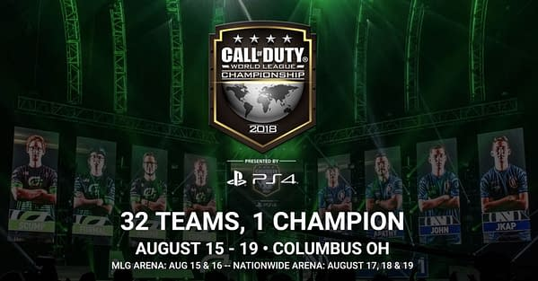 The 2018 Call of Duty Championships will Take Place in Columbus in August