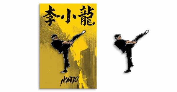 Mondo Bruce Lee Enamel Pin