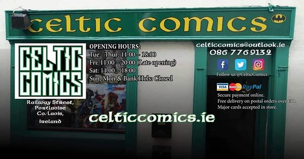 Three Comic Shops Closing – Meridian, Celtic and Two Cats
