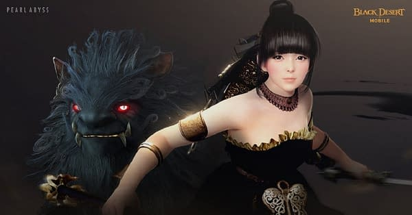 A look at the Tamer class along with the divine beast Heilang in Black Desert Mobile, courtesy of Pearl Abyss.