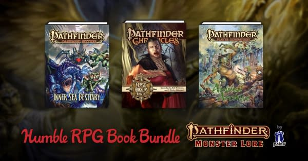 A sample of the books you can get from the Monster Lore collection, courtesy of Humble Bundle.