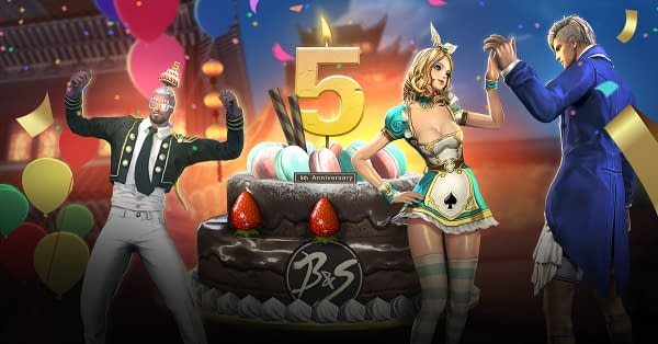 We're throwing a party and everyone is invited for big cake. Courtesy of NCSOFT.