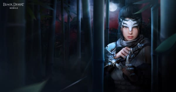 From the shadows, the Kunoichi class strikes in Black Desert Mobile. Courtesy of Pearl Abyss.