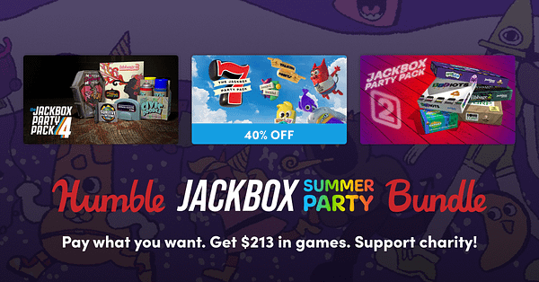 A look at some of the Jackbox Party Packs you can get in this bundle, courtesy of Humble Bundle.