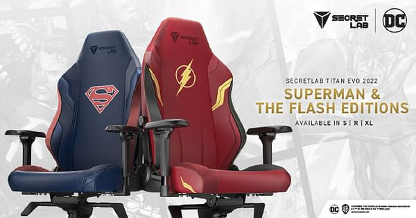 The Man of Steel and the Scarlet Speedster are now available for your gaming setup. Courtesy of Secretlab.