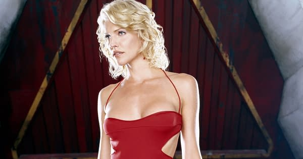 Tricia Helfer appeared as Number Six on Battlestar Galactica, courtesy of NBCU.