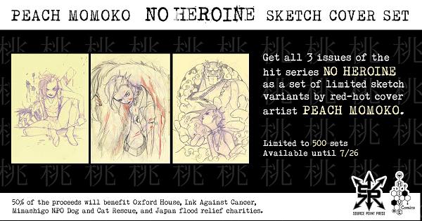 Peach Momoko No Heroine Sketch Variant Sets for Charity.