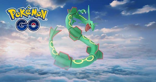 Rayquaza returns to Pokémon GO. Credit: Niantic.