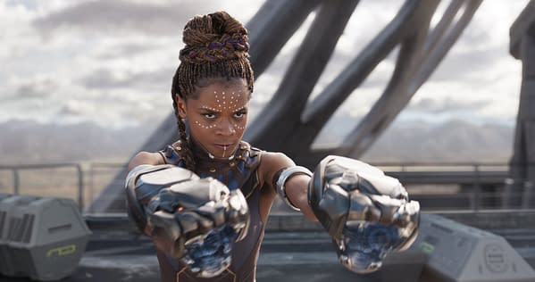 Letitia Wright, as Shuri in Black Panther (2018). Credit: Marvel
