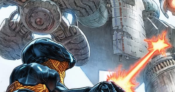 X-O Manowar #11 cover by Lewis Larosa and Diego Rodriguez