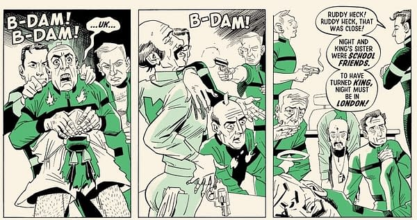 The Death of James Bond,or at Least One of Him, in League Of Extraordinary Gentlemen: Tempest Book Four