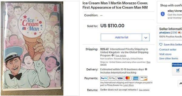 Ice Cream Man: Quarantine Comix Orders Increase Nearly 75%