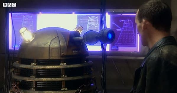 Doctor Who looks back on the modern run of the Daleks (Image: BBC screencap)