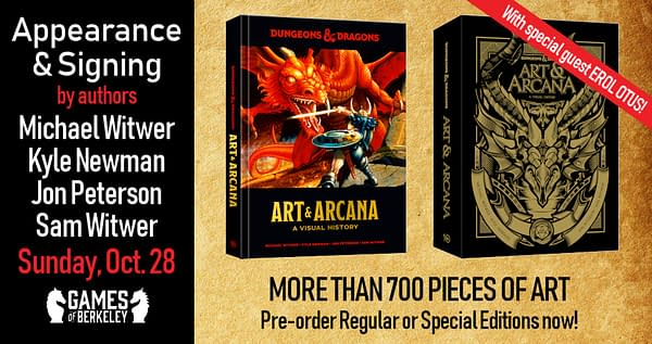 "Games of Berkeley to Host D&D ""Art and Arcana"" Signing Event"
