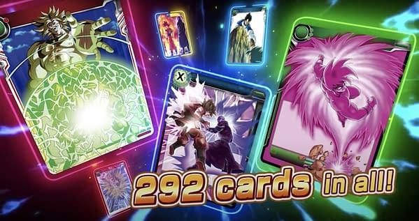 Cards of Saiyan Showdown. Credit: DBSCG