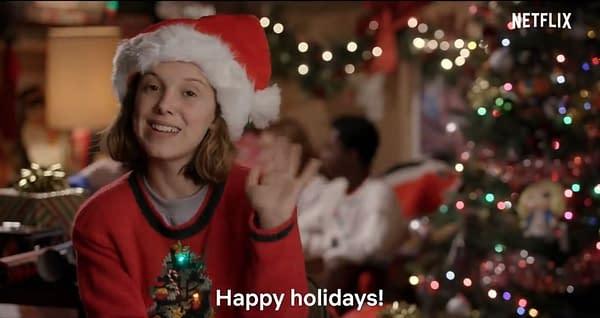 'Stranger Things' Kids Wrap Presents for Superfans