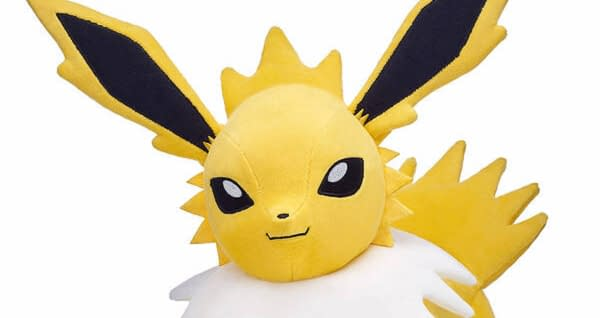Jolteon plushes are coming to Build-A-Bear near you, Courtesy of Build-a-Bear Workshop.