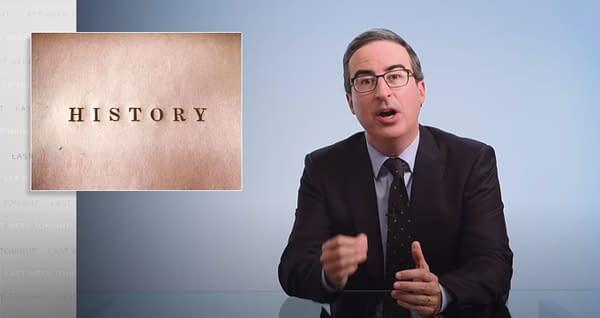 Last Week Tonight Host John Oliver Tackles Revisionist US History