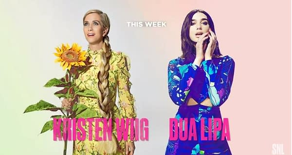 Saturday Night Live ends the year with Kristen Wiig and Dua Lipa (Image: NBCU)