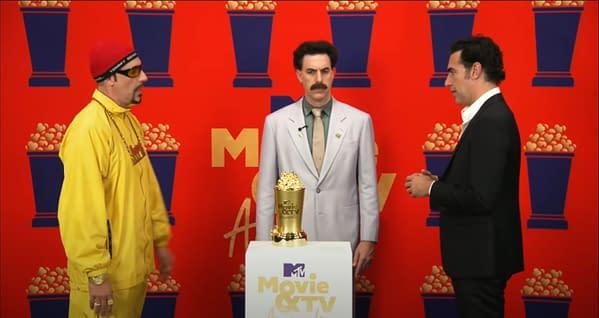 MTV Movie & TV Awards: Sacha Baron Cohen Characters Crash Speech