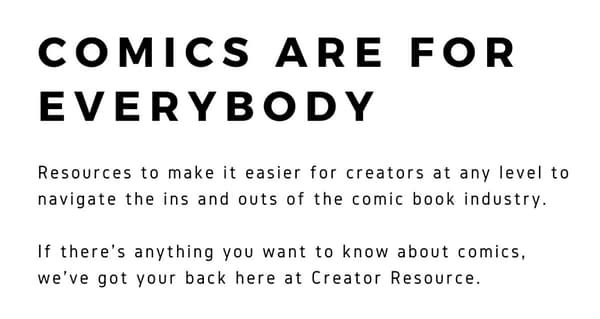 'Creator Resource' Website Aims to Create Community Where Comic Creators Have Each Other's Backs