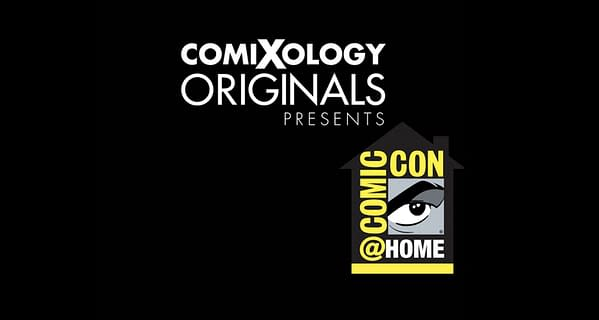 ComiXology Originals logo and ComicCon@Home logo. Credit: Both organization's official websites.