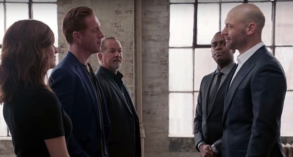 Axe meets a new threat in the fifth season of Billions, courtesy of Showtime.