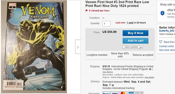 Venom First Host #3 Booms on eBay After One Tweet From Donny Cates