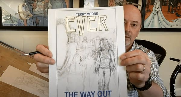 Ever cover sketch. Credit: Terry Moore's YouTube.
