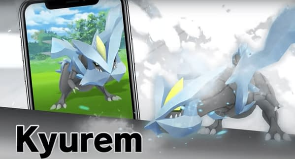 Kyurem Raid Hour signifies the Dragon's exit from Pokémon GO. Credit: Niantic.