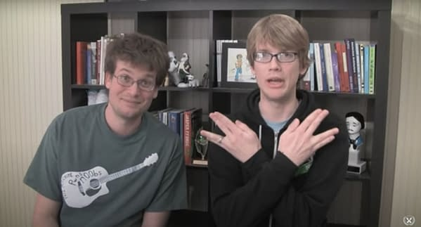 A still from the Vlogbrothers 2009 video How To Be a Nerdfighter: A Vlogbrothers FAQ. Credit: https://www.youtube.com/watch?v=FyQi79aYfxU