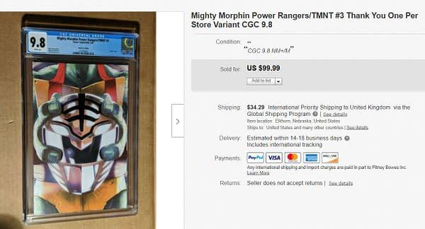 Mighty Morphin Power Rangers/TMNT #3 on eBay.