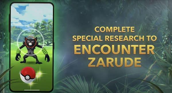 Zarude in Pokémon GO. Credit: Niantic
