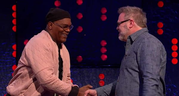 When Bryan Hitch Met Samuel L Jackson, the Man He Made Nick Fury, On The Jonathan Ross Show