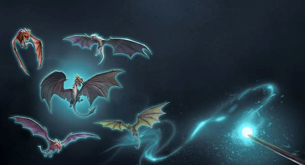 Hungarian Horntail event graphic in Harry Potter: Wizards Unite. Credit: Niantic