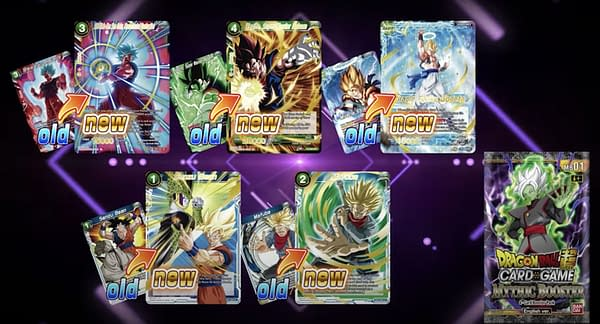 Mythic Booster cards. Credit: Dragon Ball Super Card Game